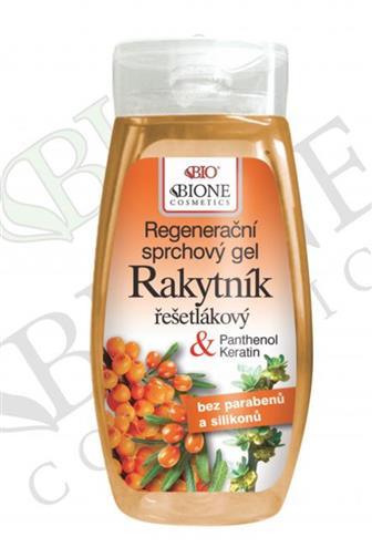 Bione Cosmetics regenerační sprchový gel Rakytník & panthenol 260 ml