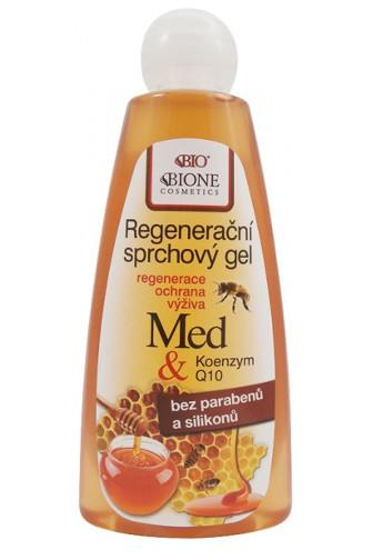 Bione Cosmetics Sprchový gel regenerační med+koenzym Q10 260ml