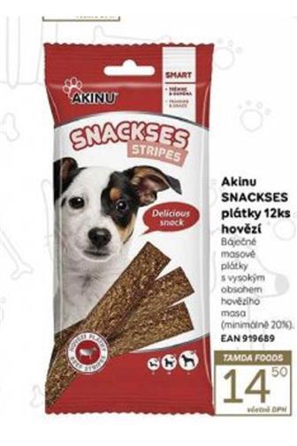 Akinu Snackses plátky pro psa 12 ks
