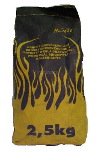Dřevěné uhlí - grilovací brikety 2.5kg
