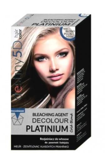 DESTINY 5D Decolour Platinium 40g + 80ml - bílý platinový melír na vlasy