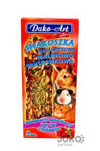 Dako-Art maliny-jahody tyčinky pro hlodavce 2 ks
