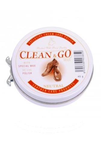 Clean & GO Wax krém na obuv bezbarvý 40 g