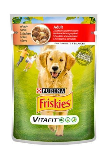 Friskies kapsička pes hovězí/brambor 100 g