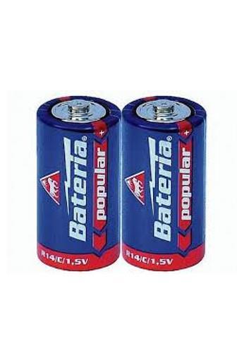 Bateria Popular+ malé mono R14/C 1.5V 2 ks