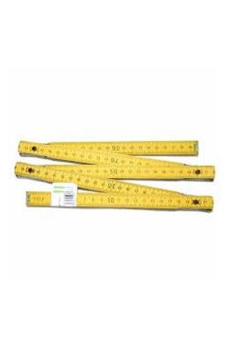 Metr skládací dřevo Profi žlutý 2m