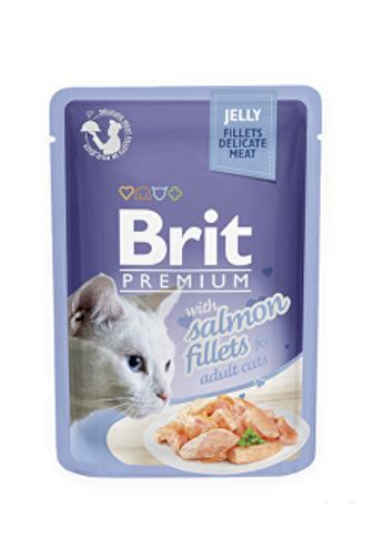 Brit Premium s lososem pro kočky 85 g