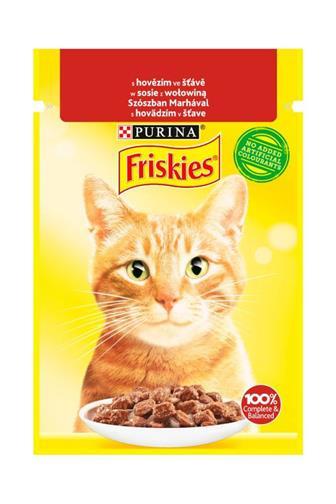 Friskies Cat kapsička hovězí ve šťávě 85 g