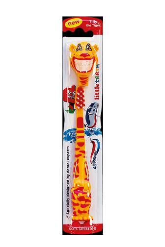 Aquafresh little teeth soft s krytkou 3 - 5 let dětský zubní kartáček