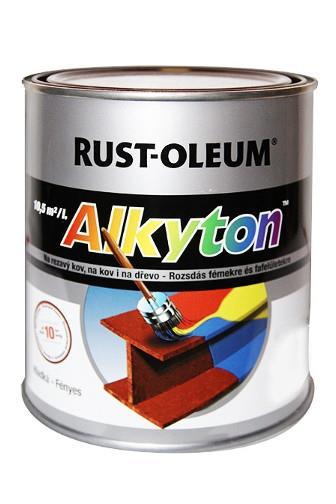 Alkyton hladký lesklý RAL 3000 ohnivě červená 0,75 l