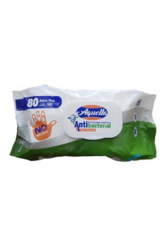 Aquella antibakteriální ubrousky s klipem 80 ks