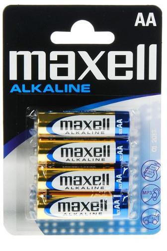 Baterie Maxell alkalické AA LR6 4ks