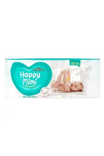 Happy Mimi dětské vlhč.ubrousky D-Panthenol 72 ks