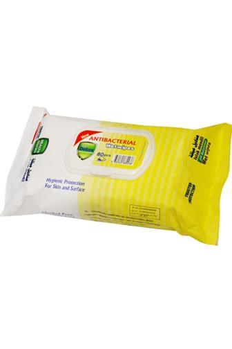 Detox antibacterilní ubrousky žluté 80 ks