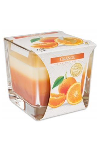 Bispol Aura svíčka vonná sklo pomeranč 170 g