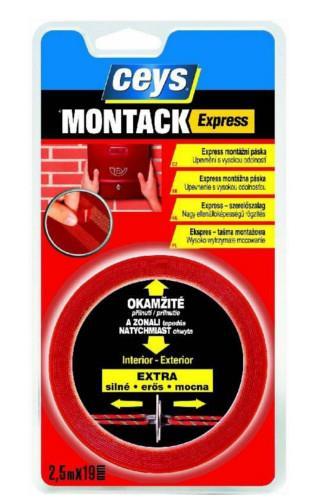 Ceys Montack express oboustranně lepící páska 2,5m x 19mm