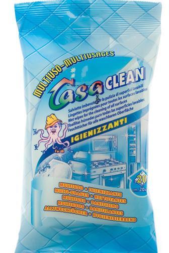 Casa Clean univerzální vlhčené ubrousky 20 x 30cm 20 ks