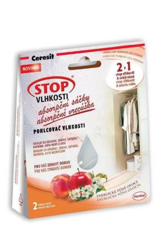 Ceresit Stop Vlhkosti 2v1 - absorpční sáčky energické ovoce 2 x 50 g