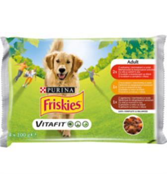 Friskies Adult kapsička ve šťávě 4 x 100 g