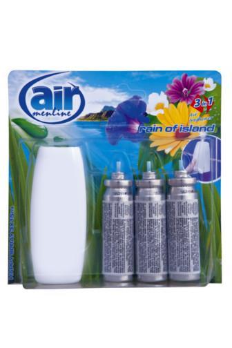 Air Menline happy spray Rain Of Island 3 x 15 ml