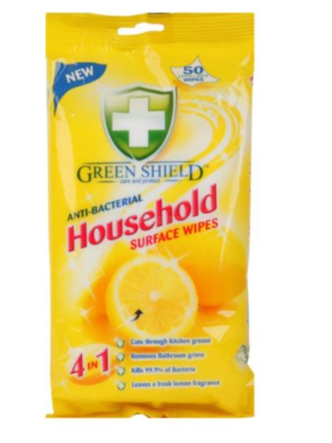 Green Shield Household Surface Wipes 4v1 pro domácnost vlhčené ubrousky 50 ks