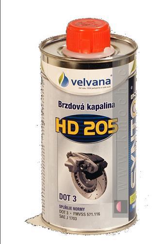 Velvana Syntol HD 205 DOT 3 - Brzdová kapalina 500 ml