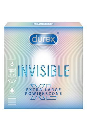 Durex Invisible extra large XL kondomy 3 ks
