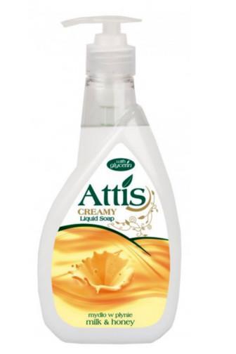 Attis Mléko & med tekuté mýdlo 400ml