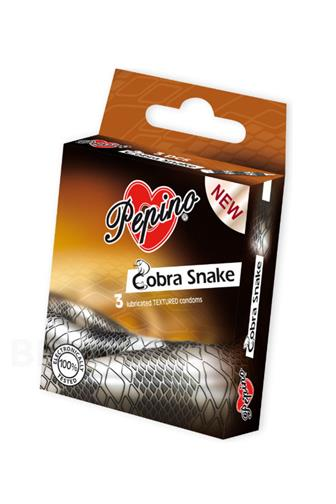 Pepino Cobra Snake kondomy 3 ks
