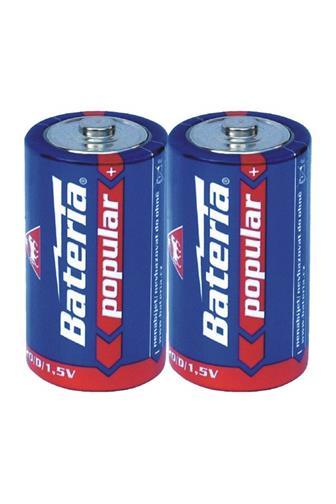 Bateria Popular D/R20/1,5V 2 ks