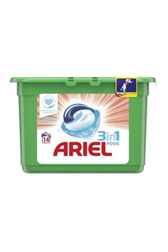 Ariel 3v1 Sensitive gelové kapsle 14 ks