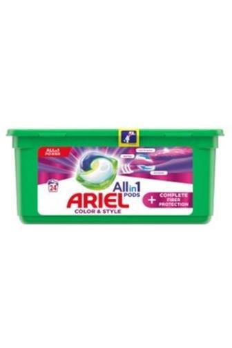 Ariel All in 1 fiber protection color gelové kapsle 24 ks