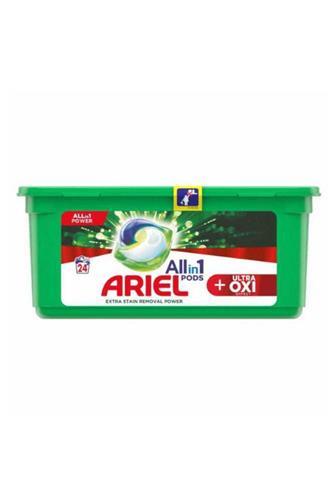 Ariel All in 1 Oxi gelové kapsle 24 ks