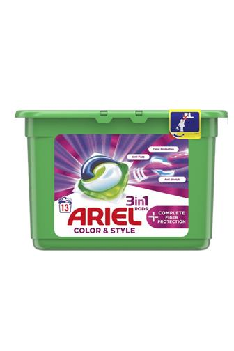 Ariel All in 1 color protect fiber gelové kapsle 13 ks
