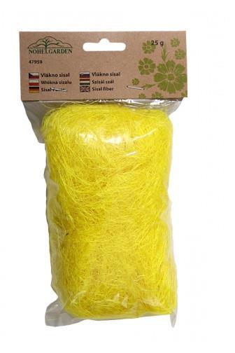 Vlákno sisalové žluté 25g