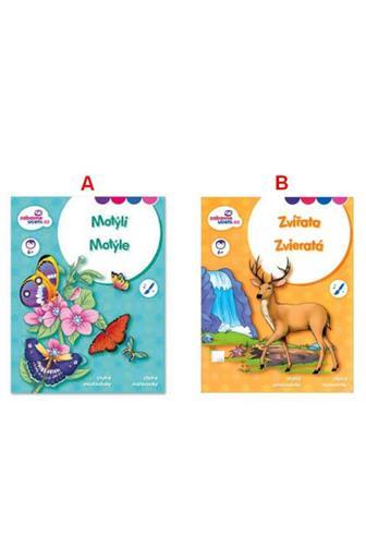 Chytré omalovánky Zvířata/Motýli A4
