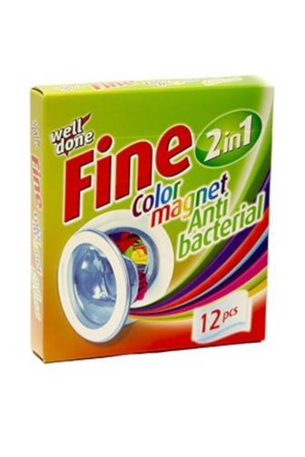 Well Done Fine Color Magnet Antibacterial antibakteriální ubrousky pohlcující barvu 12 ks