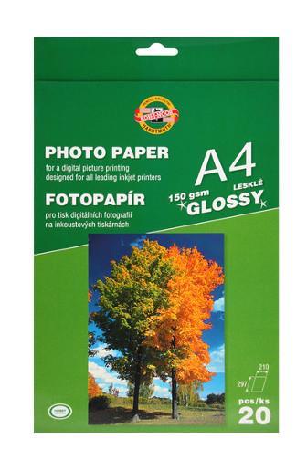 KOH-I-NOOR Fotopapír A4 lesklý 150g 20ks