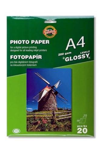 KOH-I-NOOR Fotopapír A4 lesklý 200g 20ks