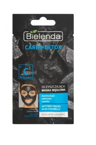 Bielenda maska Carbo Detox s aktivním uhlí 8g