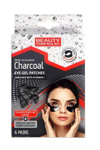 Beauty Formulas gelové oční pásky s aktivním uhlím 6 párů