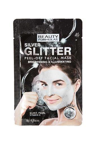 Beauty Formulas slupovací maska stříbrná a třpytivá 10 g