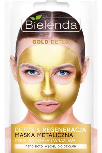 Bielenda Blue Detox metal.maska zlatá 8g