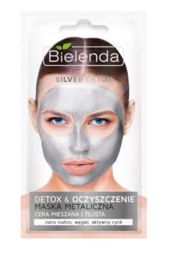Bielenda Blue Detox metal.maska stříbrná 8 g