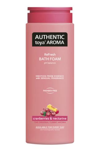 Authentic pěna do koupele cranberries & nectarine 600 ml
