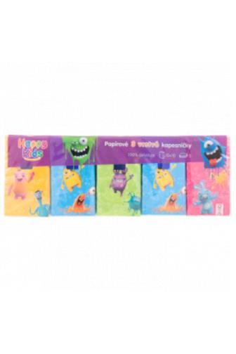 Happy Kids 3 vrstvé kapesníčky 10 x 10 ks