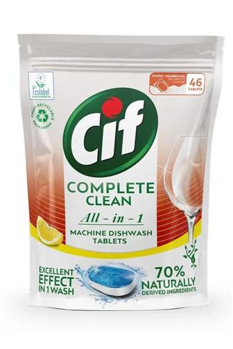 CIF All-in-1 Complete Clean Lemon tablety do myčky 46 ks