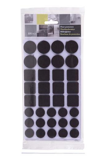 Filcové podložky samolepící 105 ks mix