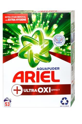 Ariel Ultra OXI white Aqua puder 53 dávek box 3,975 kg