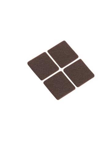 Filcové podložky samolepící čtverec 4 ks